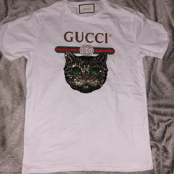 6bfd4cd94 Gucci Shirts | Mystical Cat Tshirt | Poshmark